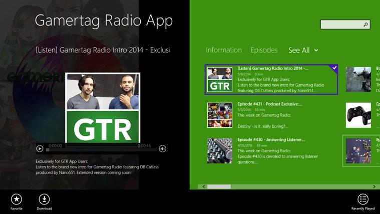Gamertag Radio App screen shot 0