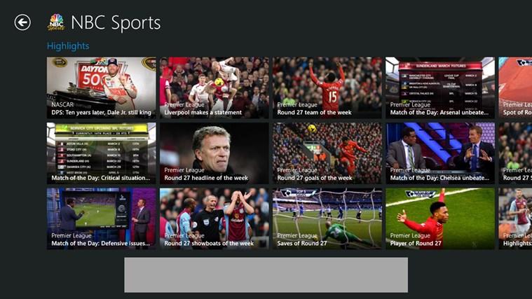NBC Sports Live Extra screen shot 2