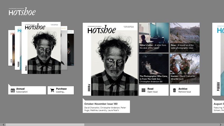 Hotshoe Magazine full screenshot