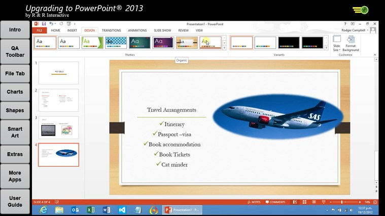 Upgrade to PowerPoint 2013 Tutorials screen shot 6