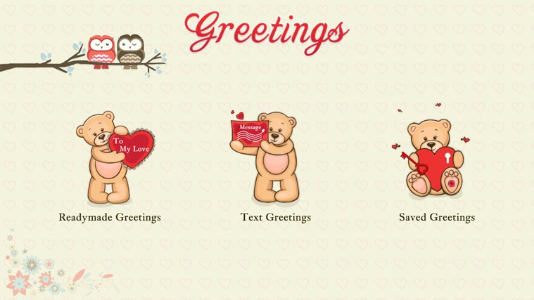 Valentine's Greetings screen shot 0