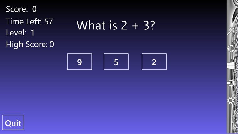 Math Flash - Addition screen shot 0