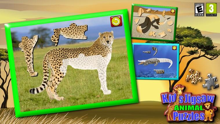 Quebra-cabeças de crianças Animal - jogo educacional jovens ensina formas e correspondência apropriada para criança e pré escola meninos e meninas 3 + captura de ecrã 0