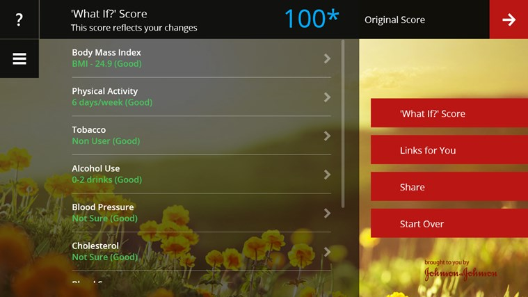 Digital Health Scorecard screen shot 4