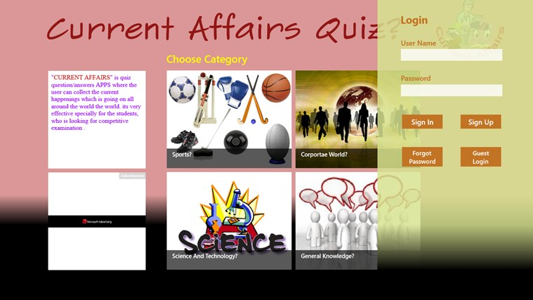 Current Affairs Quiz(Quizzical Apps) screen shot 0