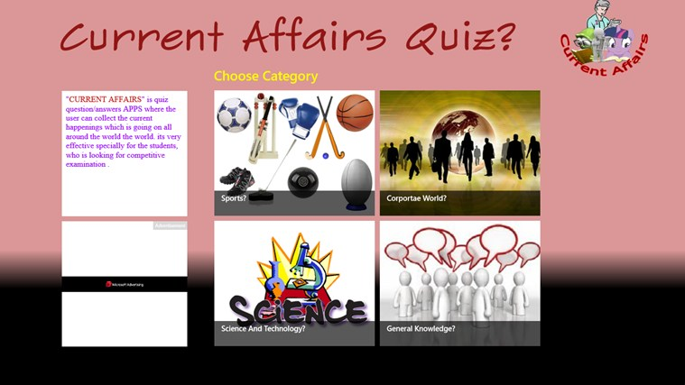 Current Affairs Quiz(Quizzical Apps) screen shot 2