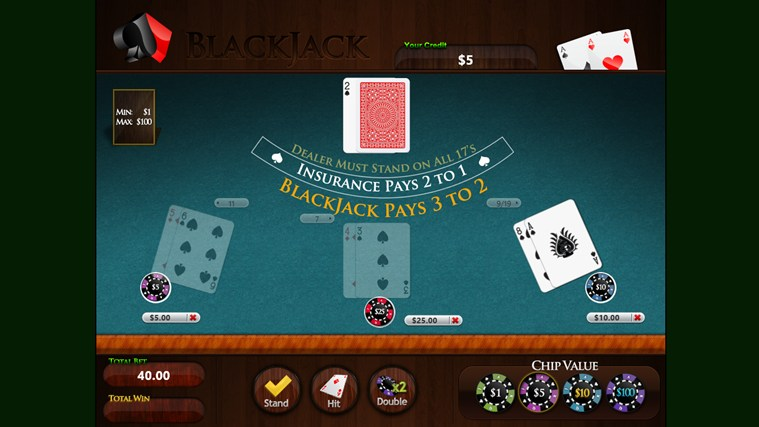 2 player blackjack app