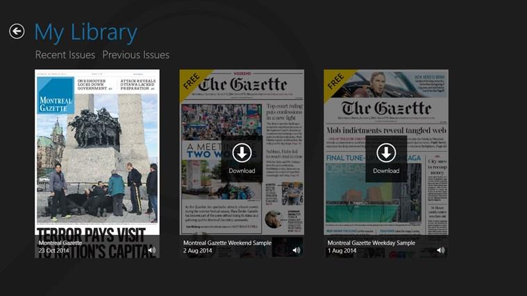 Montreal Gazette ePaper capture d'écran 0