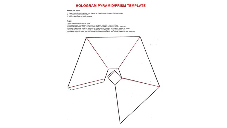hologram triangle template  TIL how to turn your phone into a holographic projector - Imgur