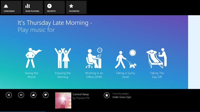 Songza screen shot 4