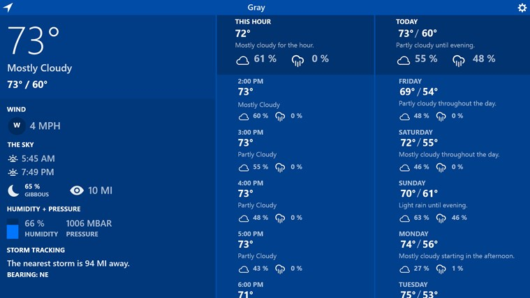 Atmosphere Weather screen shot 0