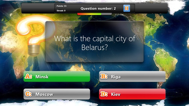 Geography Quiz Game screen shot 2