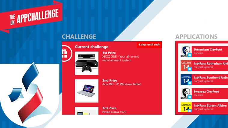 The UK AppChallenge screen shot 0