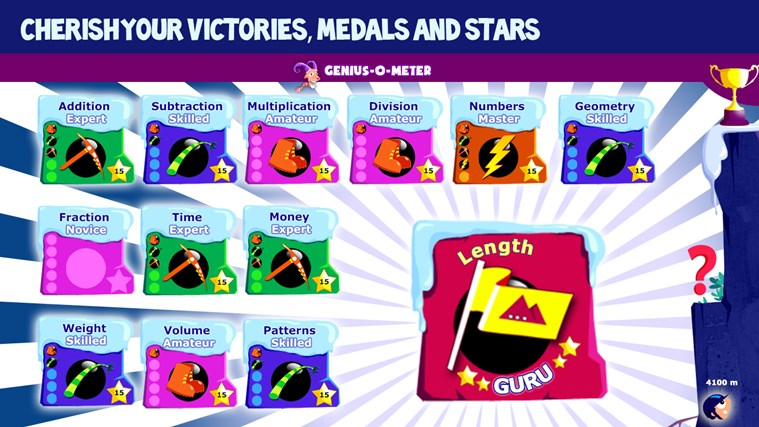 Math Games for Kids Grade 1 to 5 - Addition Subtraction Multiplication Numbers Fractions Geometry Measurement Practice with Mathaly screen shot 6