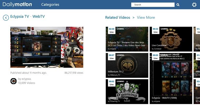 Dailymotion screen shot 6