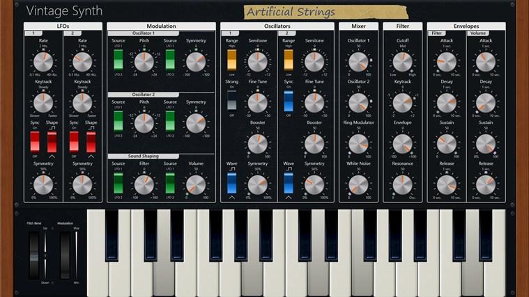Vintage Synth full screenshot