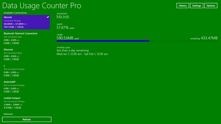 Data Usage Counter Pro screen shot 0
