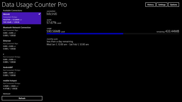 Data Usage Counter Pro screen shot 8