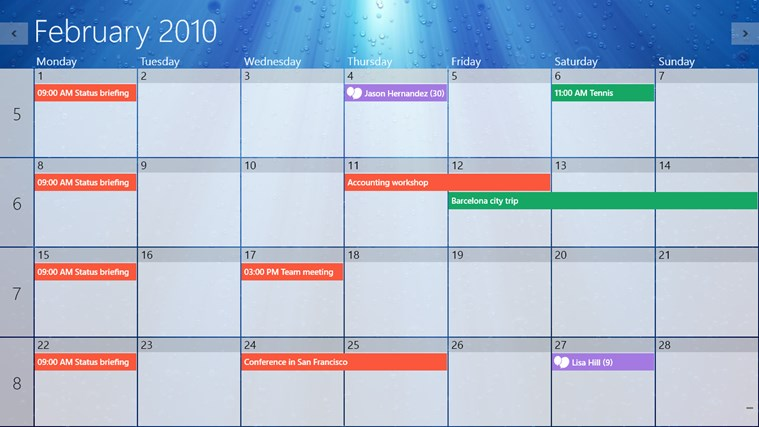 One Calendar screen shot 0