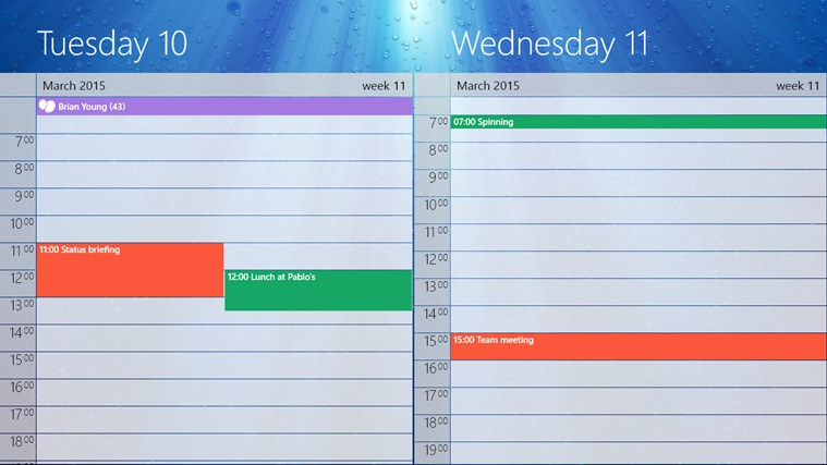 One Calendar screen shot 4