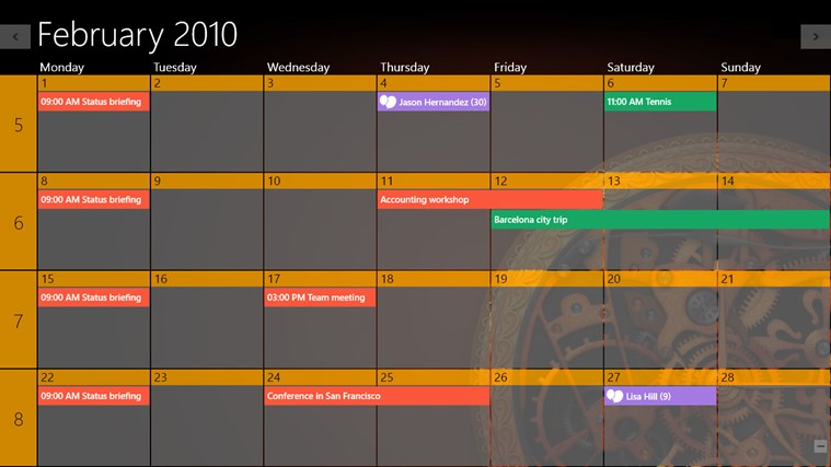 One Calendar screen shot 8