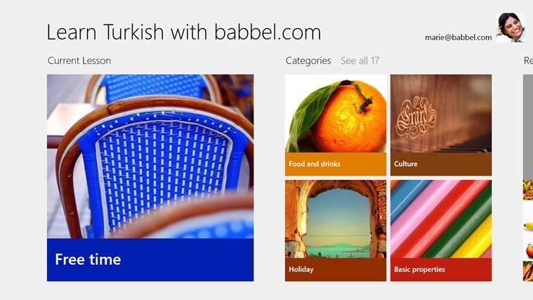 Learn Turkish with babbel.com screen shot 0
