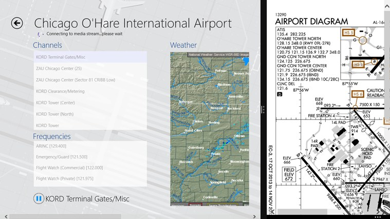 LiveATC screen shot 2