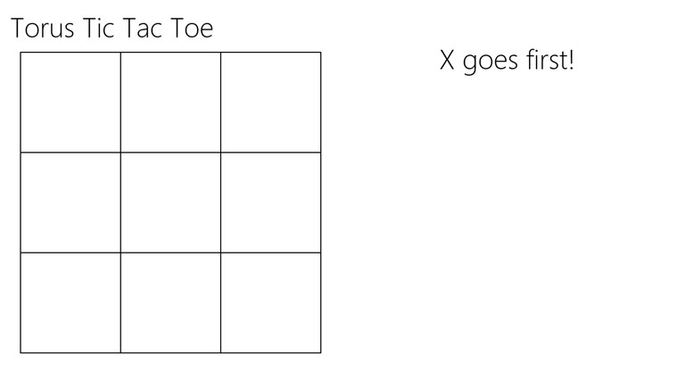 Torus Tic Tac Toe screen shot 0