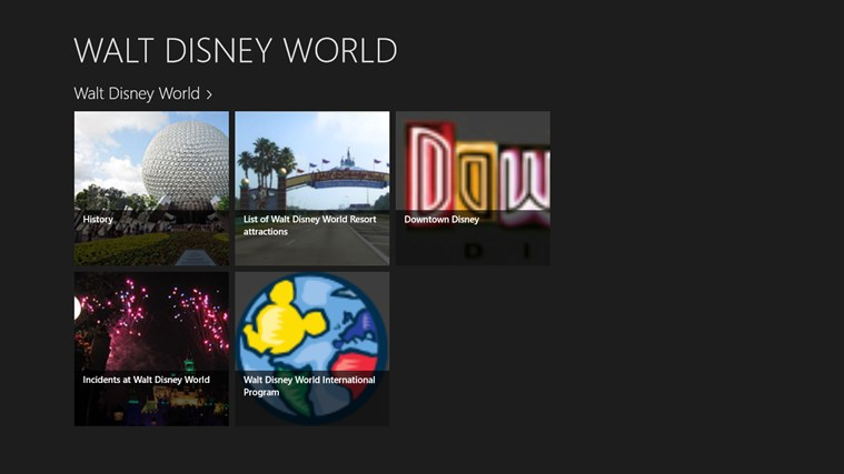 WALT DISNEY WORLD Screenshot 0