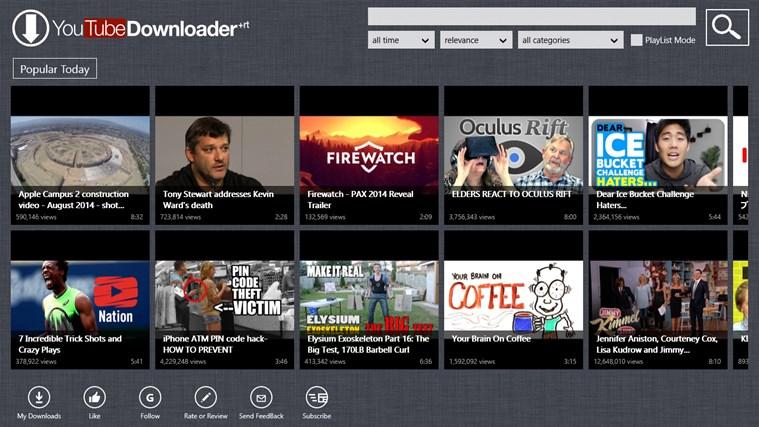 YouTube Downloader Plus RT screen shot 0