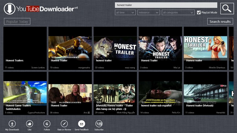 YouTube Downloader Plus RT screen shot 2
