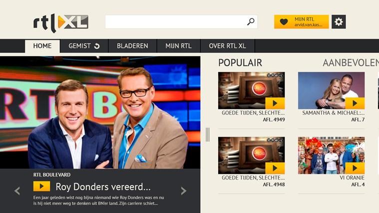 RTL XL schermafbeelding 0