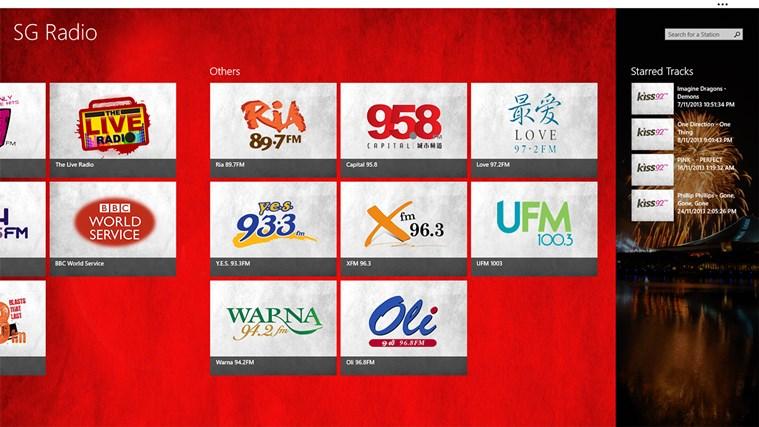 SG Radio screen shot 2