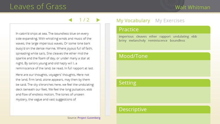 Learning in Context: Reading Comprehension screen shot 0
