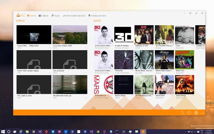 VLC for Windows 8 screen shot 0