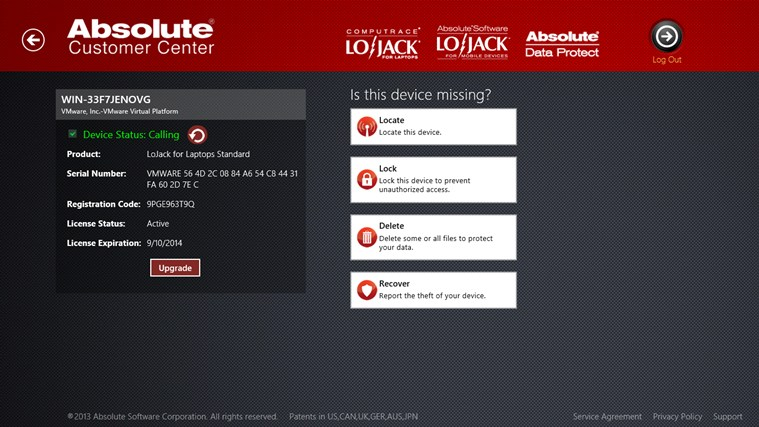LoJack for Laptops screenshot 2