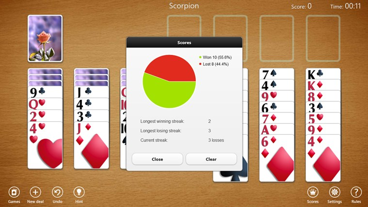 Spider Solitaire Collection Free screen shot 4