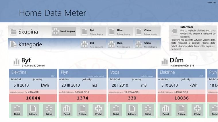HomeDataMeter snímek obrazovky 0