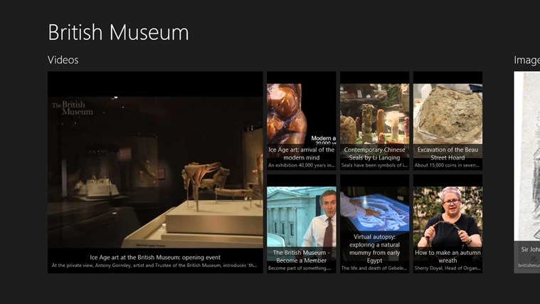 British Museum Fan App captura de pantalla 0