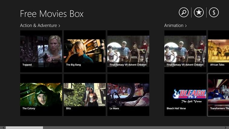 Free Movies Box skjermbilde 0