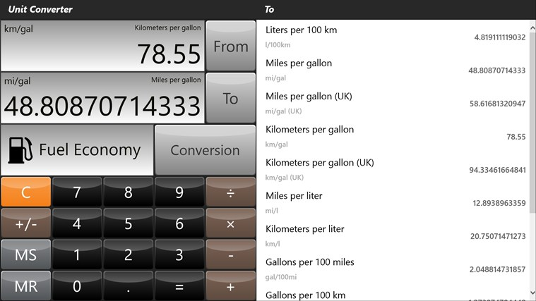 Converter Pro - Unit & Currency Conversions skjermbilete 2