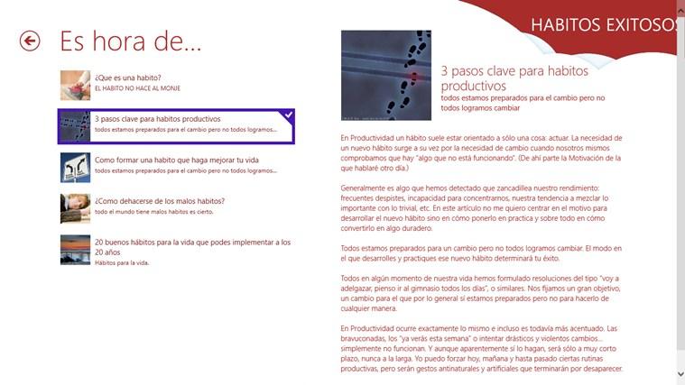 HABITOS EXITOSOS captura de pantalla 6