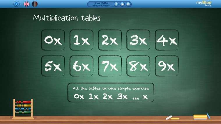 Multiplication Tables - myBlee screen shot 0