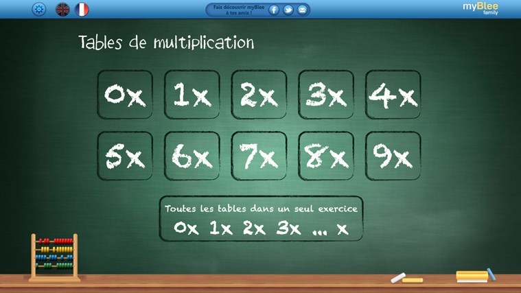 Tables de multiplication - myBlee capture d'écran 0