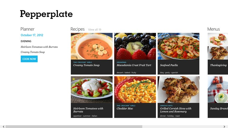 Recipe, Menu & Cooking Planner screen shot 0