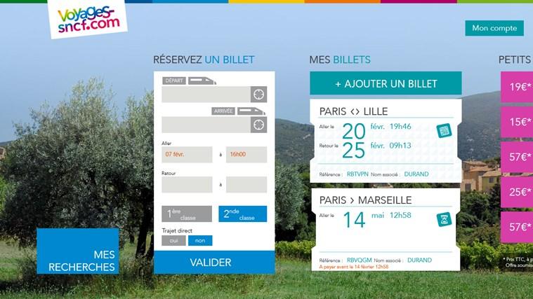 Voyages-SNCF capture d'écran 4