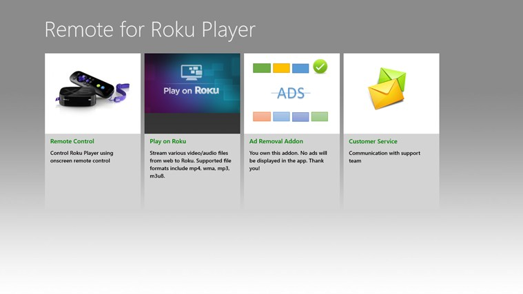 Remote for Roku Player screen shot 0