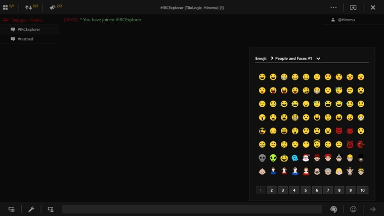 IRC Explorer screen shot 4