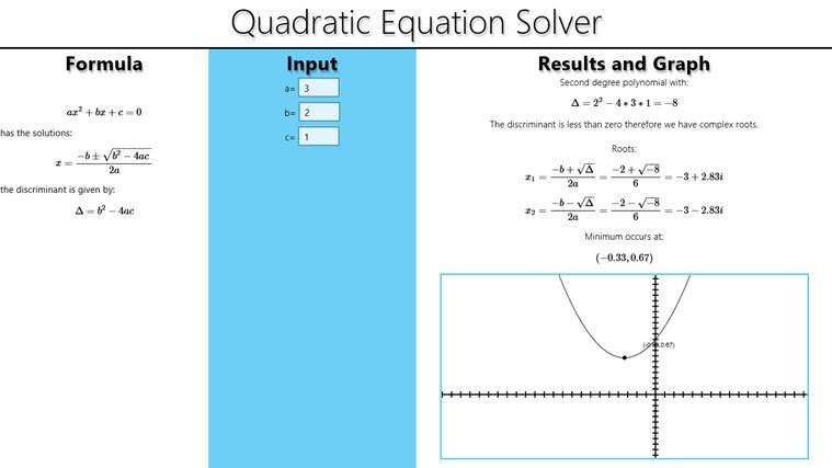 Quadratic formula calculator - cafenews.info