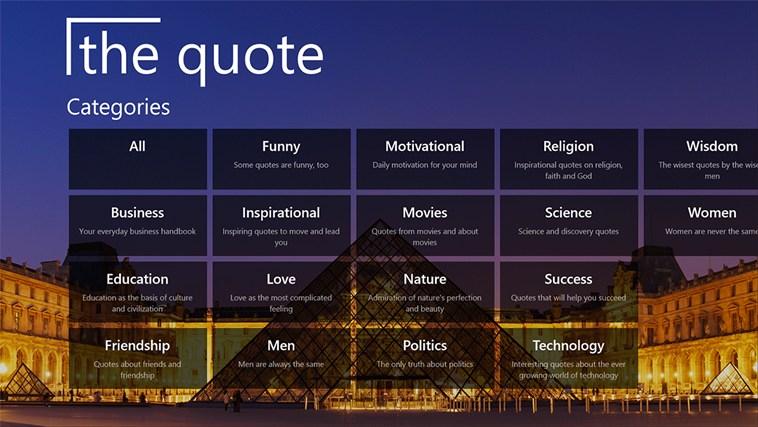 The Quote snímek obrazovky 0